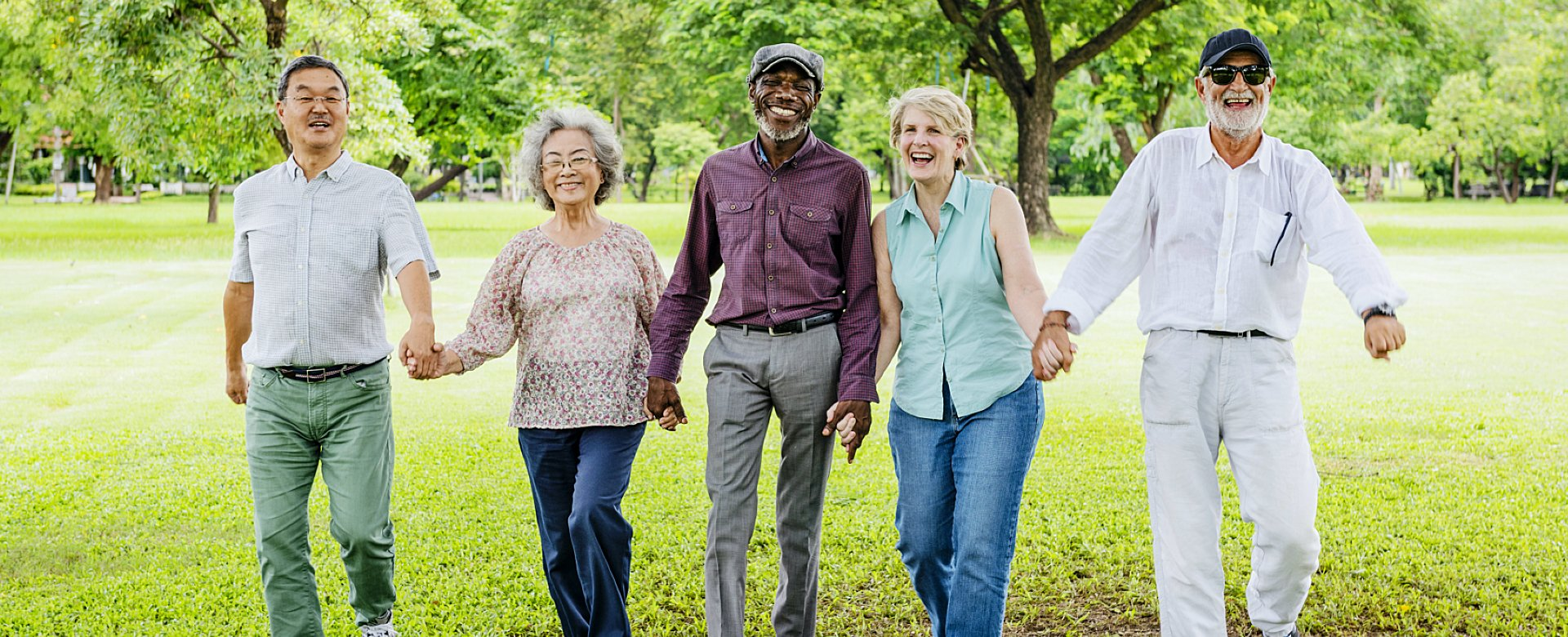 group of elderly people smiling